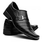 Sapatos Social Masculino em Couro Fran Garcia Fivela Preto