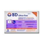 Ficha técnica e caractérísticas do produto Seringa de Insulina Bd Ultra-Fine 6mm Capacidade de 30 Unidades de Insulina Pacote com 10 Seringas