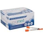 Seringa para Insulina Uniqmed 0,5ml 6x0,25mm 31g 100un