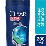 Ficha técnica e caractérísticas do produto Shampo Clear Ice Cool Menthol Anticaspa 200ml