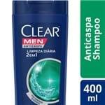 Ficha técnica e caractérísticas do produto Shampoo Anticaspa Clear Men 2 em 1 Limpeza Diároa 400ml