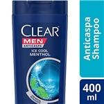 Ficha técnica e caractérísticas do produto Shampoo Anticaspa Clear Men Ice Cool Menthol 400 Ml, Clear