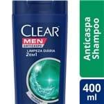 Ficha técnica e caractérísticas do produto Shampoo Anticaspa Clear Men Limpeza Diária 2 em 1 400ml Shampoo Anticaspa CLEAR Limpeza Diária 2 em 1 400ML