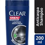 Ficha técnica e caractérísticas do produto Shampoo Anticaspa Clear Men Limpeza Profunda 200 ML