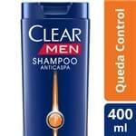 Ficha técnica e caractérísticas do produto Shampoo Anticaspa Clear Men Queda Control 400ml