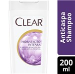 Ficha técnica e caractérísticas do produto Shampoo Anticaspa Clear Women Hidratação Intensa 200ml