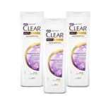 Ficha técnica e caractérísticas do produto Shampoo Anticaspa Hidratação Intensa Clear 400ml - 3 Un
