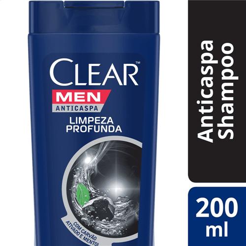 Ficha técnica e caractérísticas do produto Shampoo Clear Anticaspa Men Limpeza Profunda Clear 200ml