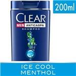 Ficha técnica e caractérísticas do produto Shampoo Clear Ice Cool Menthol - 200ml