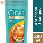 Ficha técnica e caractérísticas do produto Shampoo Clear Women Anticaspa Detox Antipoluição 200ml