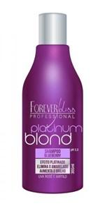 Ficha técnica e caractérísticas do produto Shampoo Forever Liss Matizador Platinum Blond 300Ml