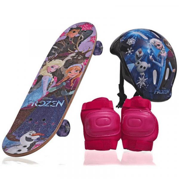 Ficha técnica e caractérísticas do produto Skate Infantil Frozen Feminino com Proteção - Outros