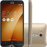 """Smartphone Asus Zenfone GO Live Dual Chip Android 5.1 Tela 5.5"""" Snapdragon 32GB 4G Câmera 13MP - Dourado"""