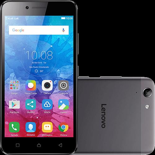 "Smartphone Lenovo Vibe K5 Dual Chip Android 5.1.1 Lollipop Tela 5"" 16GB 4G Câmera 13MP - Grafite"
