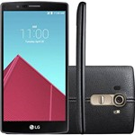 "Smartphone LG G4 H815P 32GB Tela 5.5"" IPS 16MP/8MP OS 5.1 - Couro Preto"