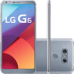 "Smartphone LG G6 Android 7.0 Tela 5.7"" Quad-core 2.35 GHz 32GB 4G Câmera 13MP - Platinum"