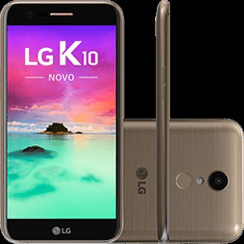 """Smartphone LG K10 Novo Dual Chip Android 7.0 Tela 5,3"""" 32GB 4G 13MP - Dourado"""