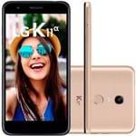 Ficha técnica e caractérísticas do produto Smartphone LG K11 Alpha 16GB Dual Chip Tela 5.3'' Câmera 8MP Frontal 5MP Android 7.1 Dourado