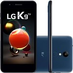 "Smartphone LG K9 TV Dual Chip Android 7.0 Tela 5"" Quad Core 1.3 Ghz 16GB 4G Câmera 8MP - Azul"