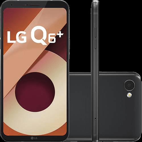 """Smartphone LG Q6 Plus Dual Chip Android 7.0 Tela 5.5"""" Full Hd+ Snapdragon MSM8940 64GB 4G Câmera 13MP - Preto"""