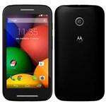 """Ficha técnica e caractérísticas do produto Smartphone Moto e Dual Chip Preto Tela 4.3"""", 3G+WiFi, Android 4.4, Câmera 5MP, Memória 4GB - Motorola"""