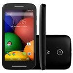 """Ficha técnica e caractérísticas do produto Smartphone Moto E™ Dual Preto com Tela de 4.3"""", Dual Chip, Android 4.4, Wi-Fi, Câmera 5MP e Bluetooth - Tim"""