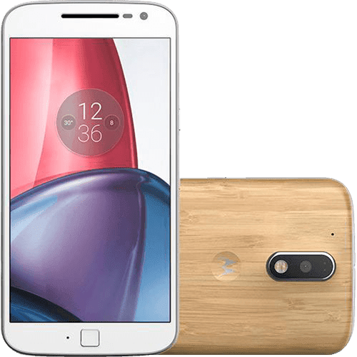 "Smartphone Moto G 4 Plus Dual Chip Android 6.0 Tela 5,5"" 32GB 4G Câmera 16MP - Bambu"