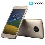 """Smartphone Moto G 5 Dual Chip Android 7.0 Tela 5"""" 32GB 4G Câmera 13MP -Dourado Capa e Pelicula"""