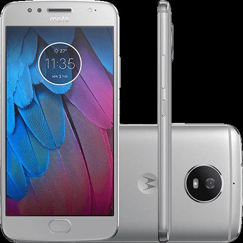 "Smartphone Moto G 5S Dual Chip Android 7.0 Tela 5.2"" Snapdradon 32GB 4G Wi-Fi Câmera 16MP - Prata"