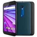 Ficha técnica e caractérísticas do produto Smartphone Moto G™ (3ª Geração) Azul Navy com Tela de 5'', Dual Chip, Android 5.1, 4G, Câmera 13MP e Processador Quad-Core de 1.4 GHz - Oi