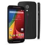Smartphone Moto G 2ª Geração Preto com Tela de 5'', 8GB, Dual Chip, Android 4.4, 3G, Câmera 8MP, Processador Quad-Core e Capa Extra