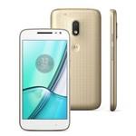 Smartphone Moto G4 Play Xt1603 Dtv Dourado Dual Chip 4g Tela 5 16gb Quad Core 2gb Ram Camera 8mp