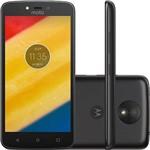 "Smartphone Motorola Moto C Plus Dual Chip Android 7.0 Tela 5"" Quad-Core 16GB 4G Wi-Fi Câmera 8MP - Preto"