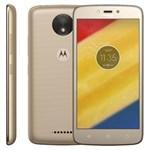 Ficha técnica e caractérísticas do produto Smartphone Motorola Moto C Plus XT1726 Ouro 16GB, Tela 5'', TV Digital, Dual Chip, Android 7.0, 4G, Câmera 8MP, Processador Quad-Core e 1GB de RAM