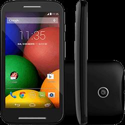 Smartphone Motorola Moto e Dual Chip Desbloqueado Preto Android 4.4 3G Wi-Fi Câmera de 5MP 4GB GPS
