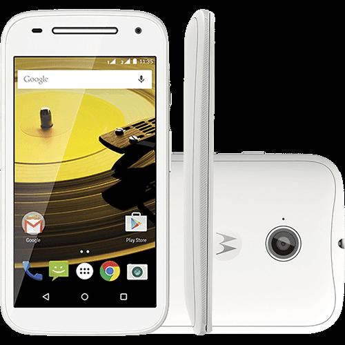 """Smartphone Motorola Moto e (2ª Geração) Dual Chip Android 5.0 Tela 4.5"""" 8GB 3G Câmera 5MP - Branco"""