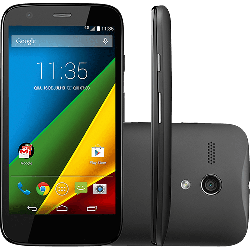 """Smartphone Motorola Moto G Desbloqueado Android 4.4.3 Tela 4.5"""" 8GB 4G Câmera 5MP - Preto"""