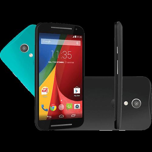 """Smartphone Motorola Moto G (2ª Geração) Colors Dual Chip Android 5.0 Tela 5"""" 8GB 3G Câmera 8MP - Preto"""