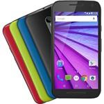 """Smartphone Motorola Moto G (3ª Geração) Colors HDTV Edição Especial Dual Chip Android Tela 5"""" 16GB 4G Câmera 13MP - Preto + 1 Capa Cherry"""