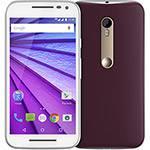 """Smartphone Motorola Moto G 3ª Geração Edição Especial Cabernet Dual Chip Desbloqueado Android 5.1 Tela HD 5"""" Memória Interna 16GB 4G Câmera 13MP Processador Quad Core 1.4GHz - Branco"""