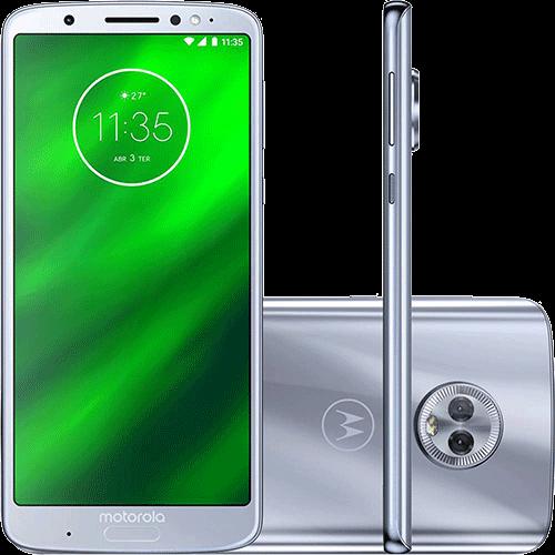 """Ficha técnica e caractérísticas do produto Smartphone Motorola Moto G6 Plus 64GB Dual Chip Android Oreo - 8.0 Tela 5.9"""" Octa-Core 2.2 GHz 4G Câmera 12 + 5MP (Dual Traseira) - Azul Topázio"""
