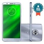 Smartphone Motorola Moto G6 Plus Dual Chip Tela 5.9` Octa-Core 2.2 Ghz 64Gb 4G Câmera 12 + 5Mp (Dual Traseira) - Azul Topázio + Cartão Sd 16Gb