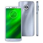 "Ficha técnica e caractérísticas do produto Smartphone Motorola Moto G6 Plus XT1926 Dual Chip, Android 8.0, Câmera Traseira Dupla, Processador Octa-Core e 4GB de RAM, 64GB, Topázio, Tela de 5,9"""