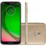 "Smartphone Motorola Moto G7 Play 32GB Dual Chip Android 9.0 4G Tela 5.7"" Octa-Core - Dourado"