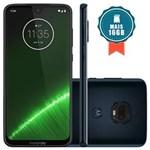 Smartphone Motorola Moto G7 Plus 64GB Tela 6.24``Dual Traseira 16MP+5MP Índigo + Cartão SD 16GB