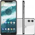 Smartphone Motorola One 64GB Branco Dual Chip Android Oreo 8.1 Tela 5.9 2.0 GHz Octa-Core Qualcomm 4G Camera 13 + 5MP (D...