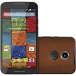 """Smartphone Motorola Moto X 2ª Geração Couro Vintage Desbloqueado Android Lollipop 5.0 Tela 5.2"""" 32GB 4G Wi-Fi Câmera 13MP - Marrom"""