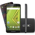 """Smartphone Motorola Moto X Play Edição Especial Raio-X Dual Chip Desbloqueado Android 5.5"""" 32GB 4G 21MP - Preto"""