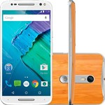 "Smartphone Motorola Moto X Style Dual Chip Android 5.1 Tela 5.7"" 32GB 4G Câmera 21MP - Branco com Bambu"