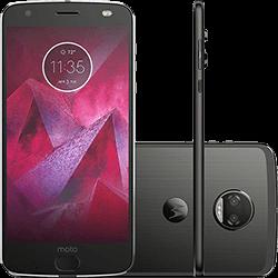 "Ficha técnica e caractérísticas do produto Smartphone Motorola Moto Z2 Force Dual Chip Android 7.1 Nougat Tela 5.5"" Octa-Core 64GB 6GB RAM 4G Câmera Dupla 12MP - Preto"